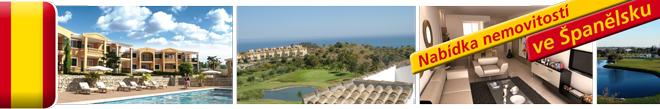 Domy a vily ve Španělsku - u moře a golfu
