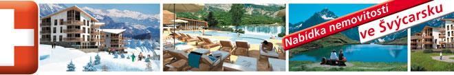Domy a vily ve Švýcarsku - exkluzivní alpská střediska